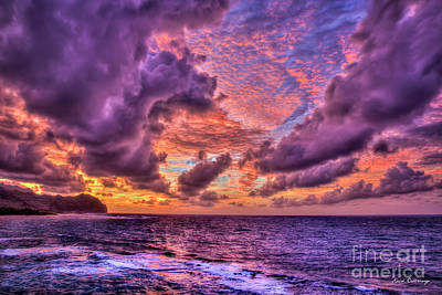 Photograph - Majestic Sunrise Too Kauai Hawaii Art by Reid Callaway