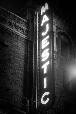Photograph - Majestic Theater Marquee by Mark Andrew Thomas