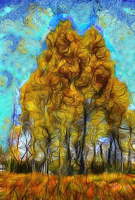 Contemporain Art Digital Art - Majestic Tree by Jean-Marc Lacombe