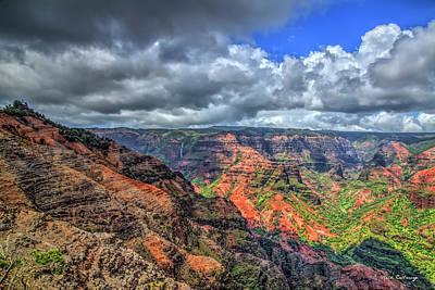 Photograph - Majestic Waimea Canyon The Grand Canyon Of The Pacific Kauai Hawaii Art by Reid Callaway