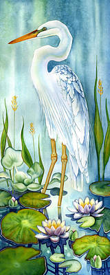 Majestic White Heron Art Print