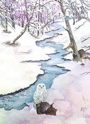 Painting - Majestic Winter - Snowy Owl by Ellen Levinson