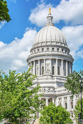 Photograph - Majestic Wisconsin State Capitol 1 by Pamela Williams