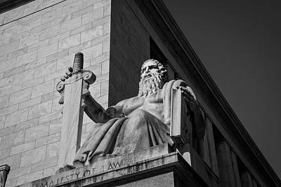 Government Photograph - Majesty Of Law In Black And White by Chrystal Mimbs