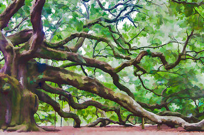 Photograph - Majesty - The Angel Oak by E Karl Braun
