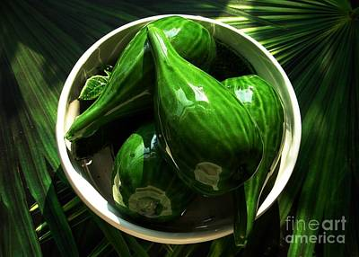 Photograph - Majolica Gherkins by Joan-Violet Stretch