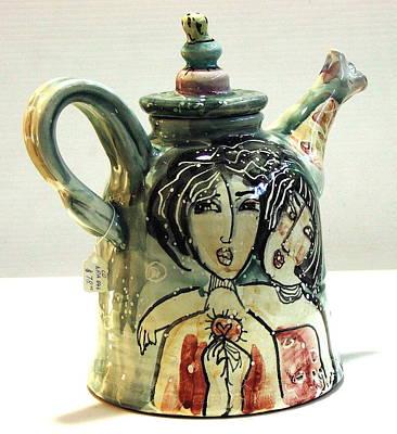 Majolica Tea Pot Art Print by Kathleen Raven