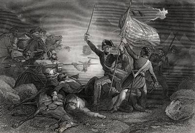 Major Dix At The Battle Of Buena Vista Print by Vintage Design Pics