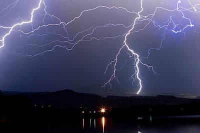 Major Foothills Lightning Strikes Print by James BO  Insogna