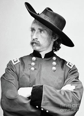 Photograph - Major General George Armstrong Custer by American School