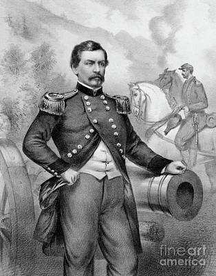 Major General George B Mcclellan Art Print by American School