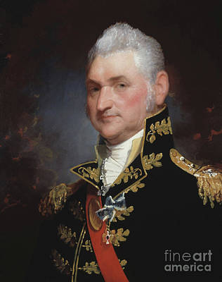 Regalia Painting - Major General Henry Dearborn by Gilbert Stuart