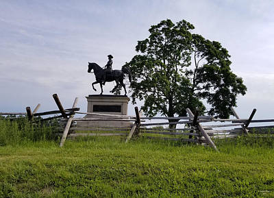 Photograph - Major General John F Reynolds Monument On Mcphersons Ridge Gettysburg by Judith Rhue