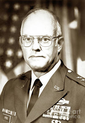 Photograph - Major General Thomas Dudley Ayers, Fort Ord Circa 1981 by California Views Mr Pat Hathaway Archives