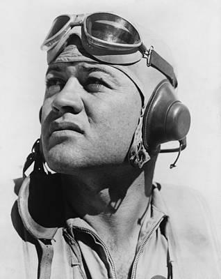 Bsloc Photograph - Major Gregory Pappy Boyington by Everett