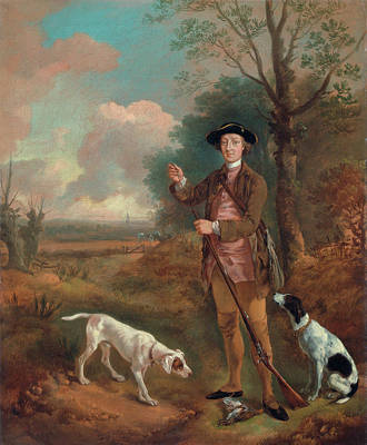 Hunting Painting - Major John Dade by Thomas Gainsborough