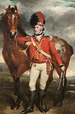 Legion Painting - Major O'shea Of The Loyal Cork Legion by Martin Archer Shee