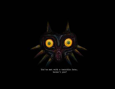 Old Video Game Digital Art - Majoras Mask by Ana Djurkovic