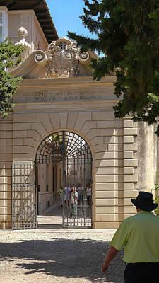Photograph - Majorca Palace Gate by Herb Paynter