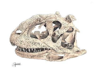Digital Art - Majungasaur Skull by Rick Adleman