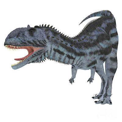 Aggressive Painting - Majungasaurus Predator by Corey Ford