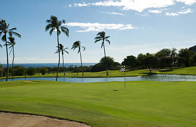 Water Play Photograph - Makaha Golf Course by Bill Bachmann - Printscapes