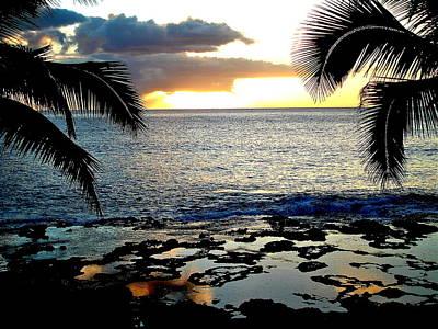 Photograph - Makaha Sunset by Erika Swartzkopf