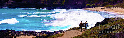 Art Print featuring the photograph Panorama - Makapu'u Beach Park, Oahu, Hawaii  by D Davila