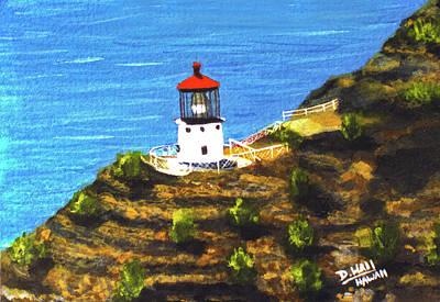 Makapuu Lighthouse #78, Art Print by Donald k Hall