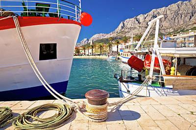 Design Turnpike Books - Makarska fishermen harbor colorful view by Brch Photography