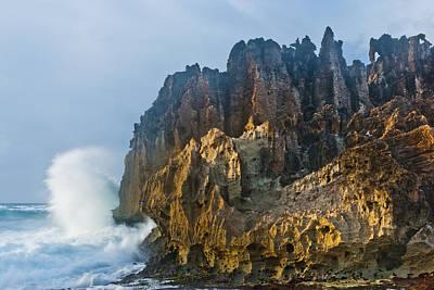 Ocean Power Photograph - Makawehi Surf by Thorsten Scheuermann