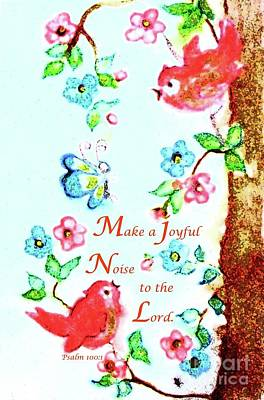 Painting - Make A Joyful Noise by Hazel Holland