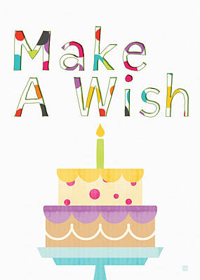 Make A Wish- Art By Linda Woods Art Print by Linda Woods