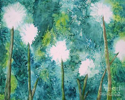 Make A Wish Dandelions Original by Caitlin  Lodato