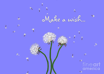Painting - Make A Wish by Methune Hively