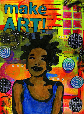 Mixed Media - Make Art by Angela L Walker