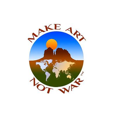 Digital Art - Make Art Not War Logo by Victoria Oldham