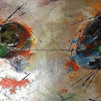 Painting - Make Art Not War by Lucy Matta - lulu
