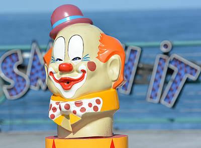 Redondo Beach Pier Wall Art - Photograph - Make Em Laugh by Fraida Gutovich