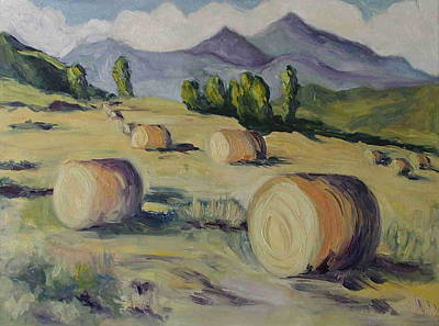 Bales Painting - Make Hay While The Sun Shines by Zanobia Shalks