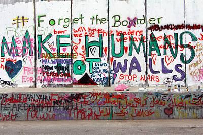 Separation Painting - Make Humans Not Walls by Munir Alawi