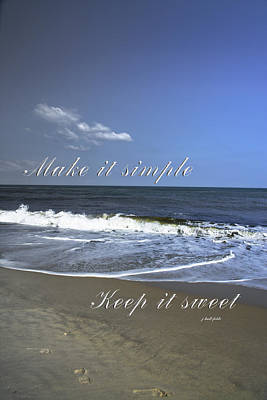 Photograph - Make It Simple by Judy Hall-Folde