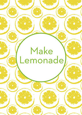 Lemon Mixed Media - Make Lemonade 3- Art By Linda Woods by Linda Woods