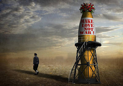 Montage Photograph - Make Love, Not War ! by Ben Goossens