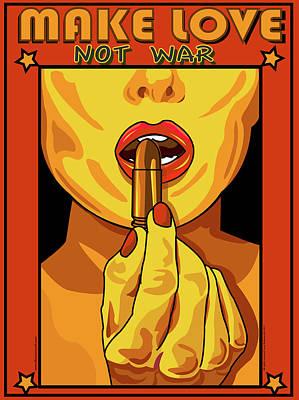 Digital Art - Make Love Not War by Larry Butterworth