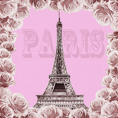 Painting - Make Me Pink Paris by Irina Sztukowski