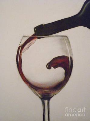 Make Mine A Red Wine Art Print by Paul Horton