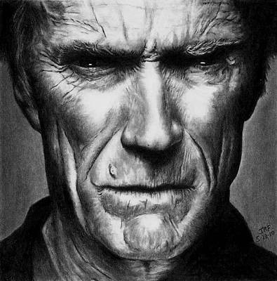 Clint Eastwood Drawing - Make My Day by Rick Fortson