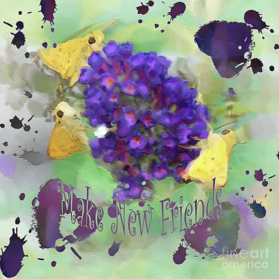 Make New Friends Art Print by Anita Faye