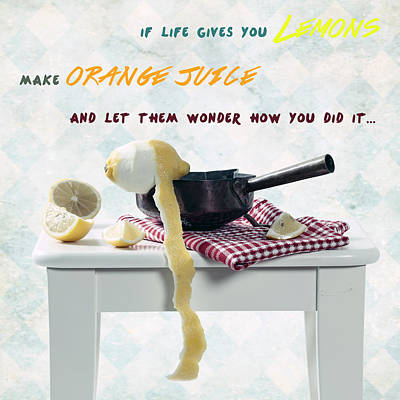 Make Some Orange Juice Print by Joana Kruse